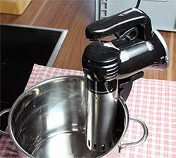 Wancle Circulador de Inmersión - en el PotWancle Circulador de Inmersión - en el TestWancle Circulador de Inmersión - voluminoso DisplayWancle Circulador de Inmersión - la pinza se controla por un mecanismoWancle Circulador de Inmersión - la bobina de calentamiento y una hélice de metal