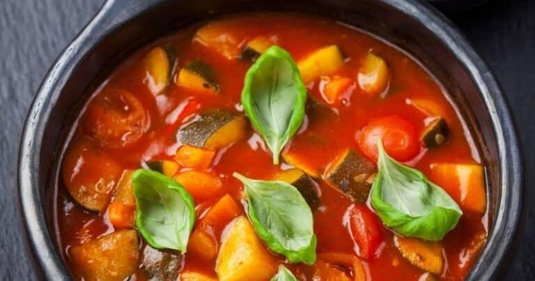 Ratatouille en sopa, un plato original para beber frío o caliente durante todo el año.